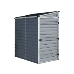 Pent Storage Shed 4x6 Grey