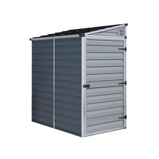 Pent Storage Shed 4x6 Grey