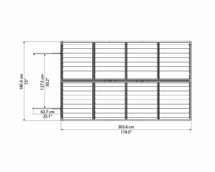 Skylight Storage Sheds 6x10 elevation