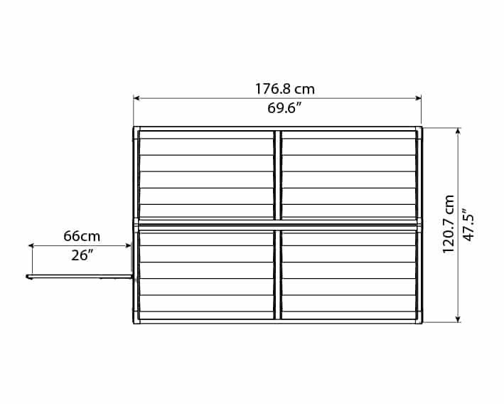Skylight Storage Sheds 4x6 elevation