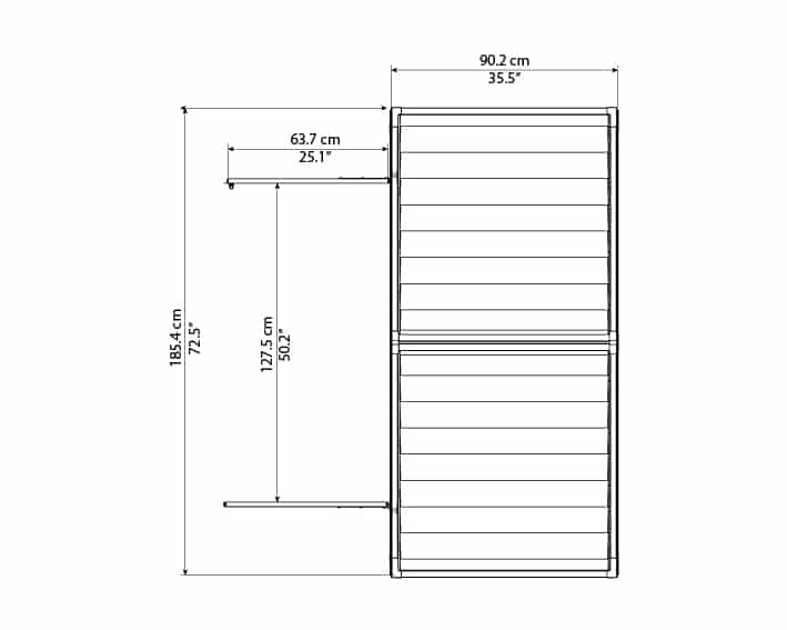 Skylight Storage Sheds 6x3 elevation