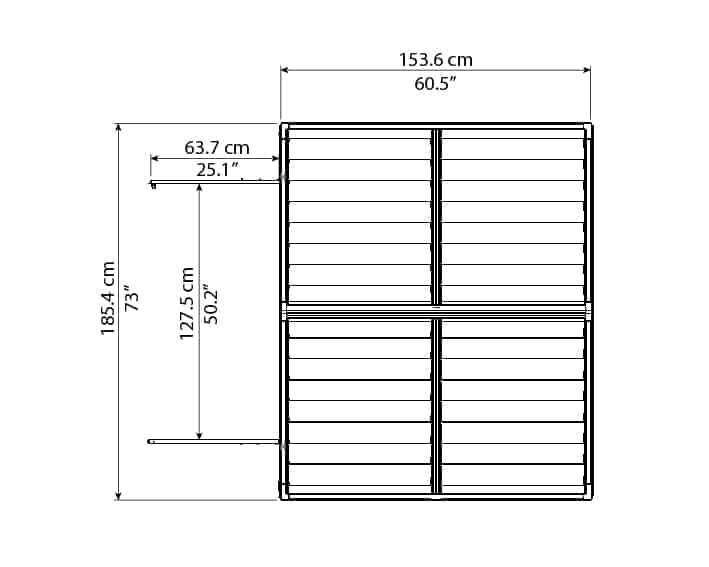 Skylight Storage Sheds 6x5 bird's eye view