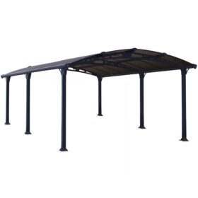 Arcadia 5000 DIY Carport Kit Grey - Broze | 502 x 359 cm