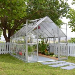 Silver frame greenhouse 8x12'