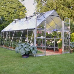 Silver frame greenhouse 8x16'