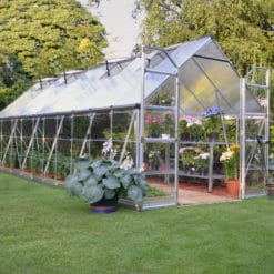 Silver frame greenhouse 8x20'