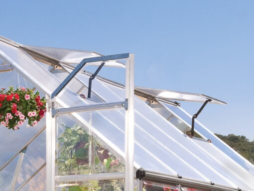 Palram Silver frame greenhouse 8x12 Silver two windows Greenhouses