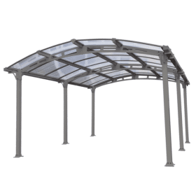 Arcadia 5000 Carport Grey Clear