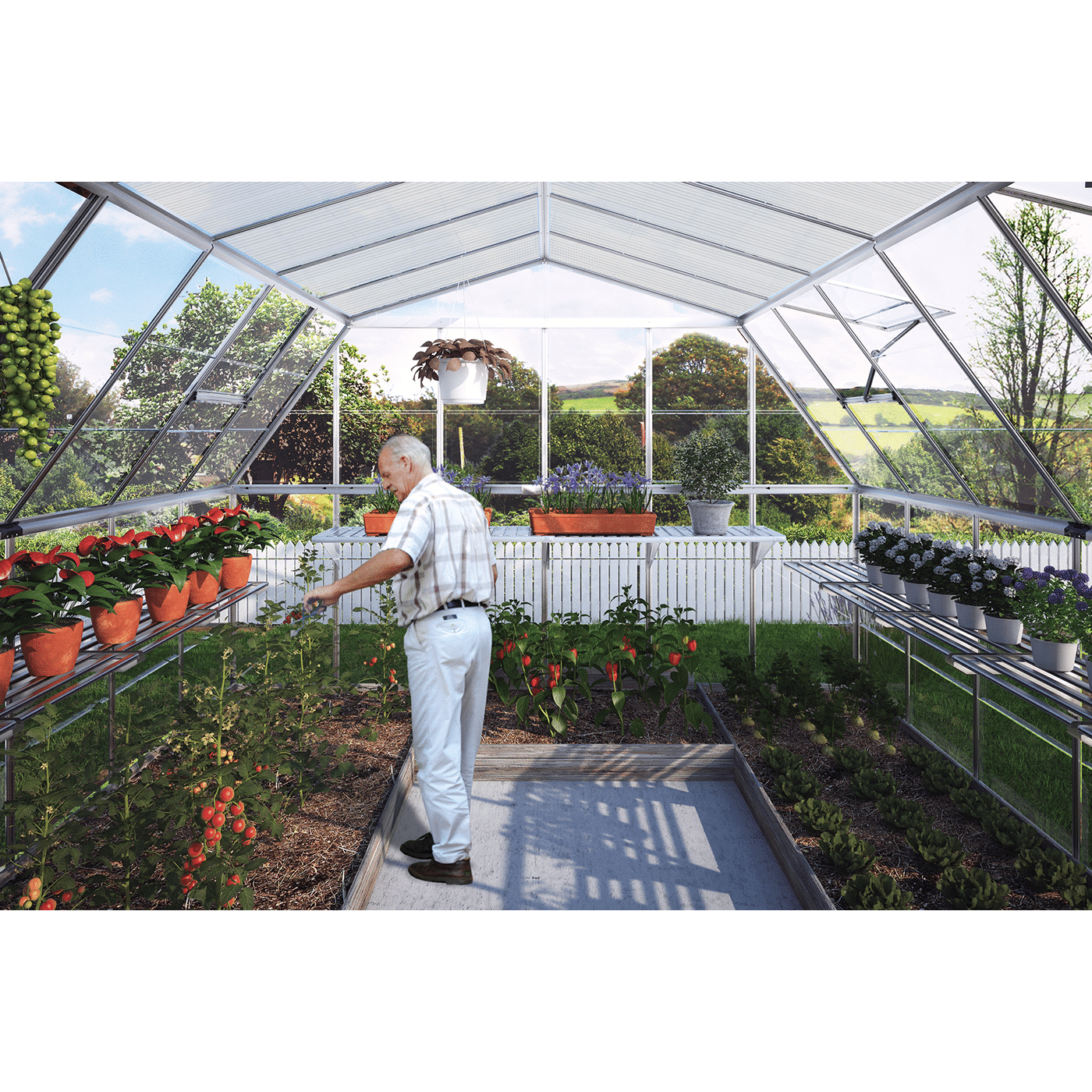 Americana Greenhouse 12x12 365x365cm 187 Tip Top Yards
