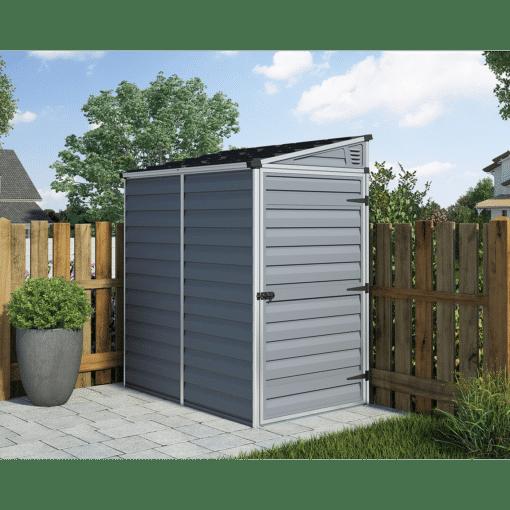 Pent Storage Shed 4x6 Grey 2