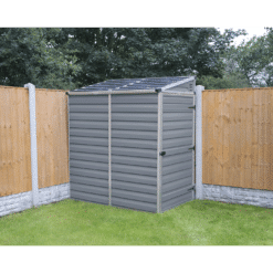 Pent Storage Shed 4x6 Grey 1